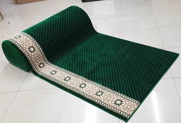 karpet masjid al saray hijau