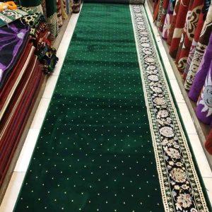 karpet masjid golden mosque hijau