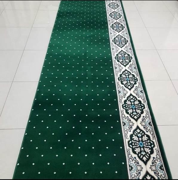 karpet masjid hira hijau bintik