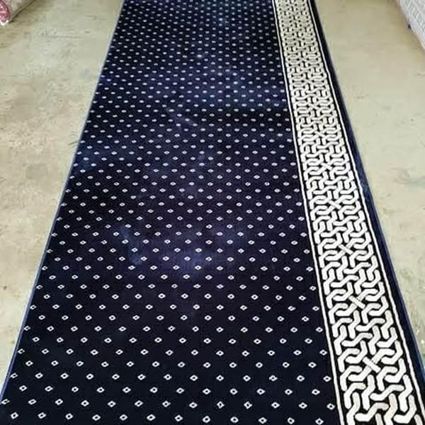 karpet masjid mirac biru bintik