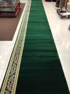karpet masjid royal tebriz hjau polos
