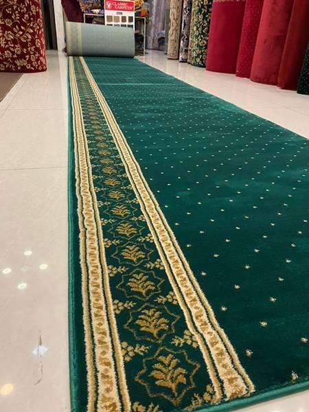 karpet masjid turki sahara hijau