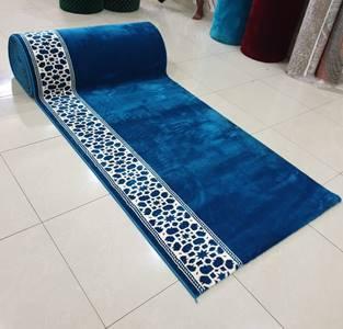 karpet masjid turki mirac biru langit polos