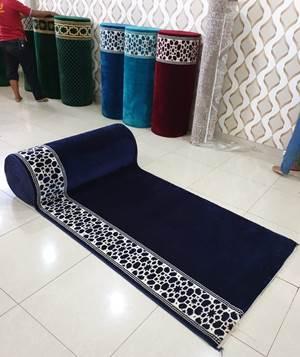 karpet masjid turki mirac biru polos