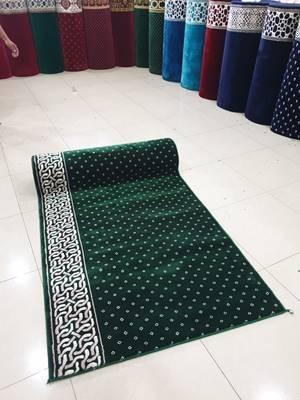 karpet masjid turki mirac hijau bintik