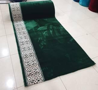 karpet masjid turki mirac hijau polos