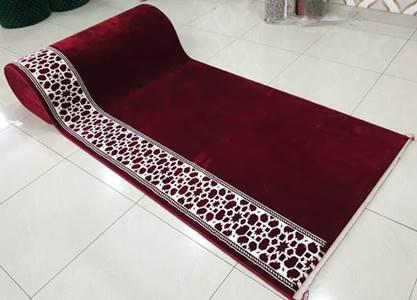 karpet masjid turki mirac merah polos