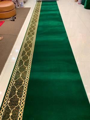 karpet masjid turki qatar hijau motif