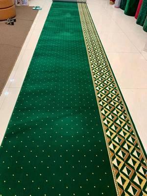 karpet masjid turki qatar hijau