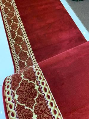 karpet masjid turki qatar merah motif