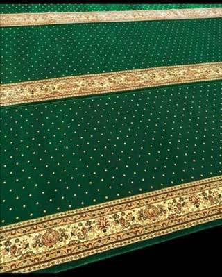 Karpet Masjid Royal Authentic Hijau Bintik