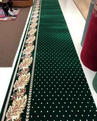 karpet masjid Hagia Sofia hijau bintik