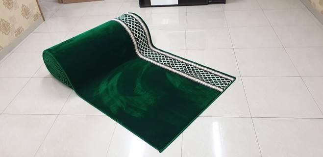 karpet masjid al saray hijau motif