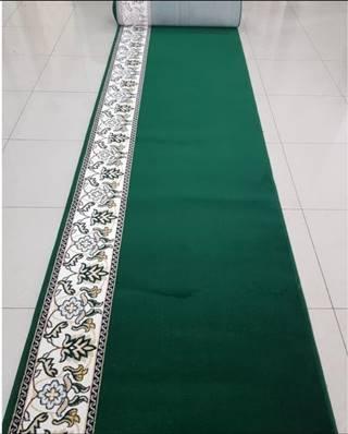 karpet masjid hira hijau polos