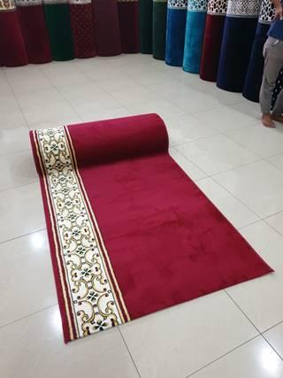 karpet masjid hira merah polos