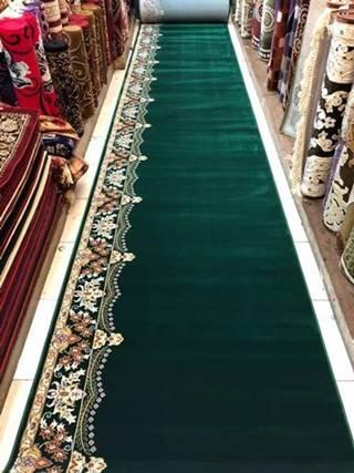 karpet masjid super tebriz hijau motif