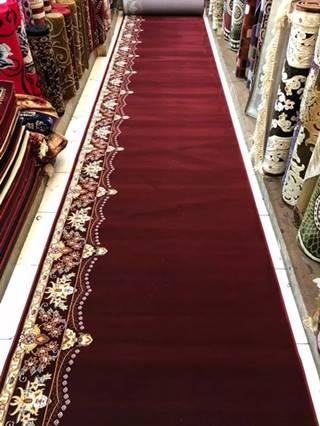 karpet masjid super tebriz merah motif