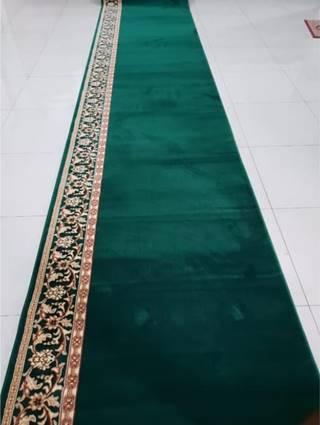 karpet masjid turki millenium hijau